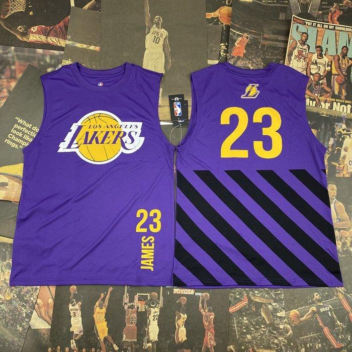 NBA背心職籃球星勒布朗·詹姆士 (LeBron James)23號 洛杉磯湖人隊   籃球運動背心  正版