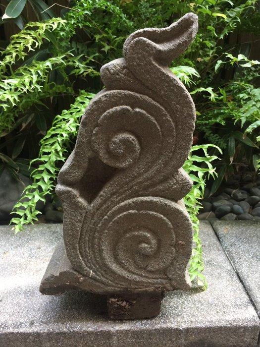 【一(藝)窩】清代 石插角~青斗石