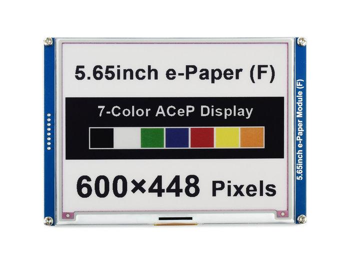 【莓亞科技】樹莓派5.65吋彩色電子紙模組(7色, 600×448, 含稅現貨NT$2280)