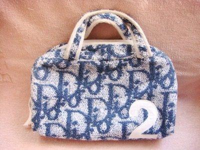 Chrisitan Dior CD 迪奧 毛巾質料手提包