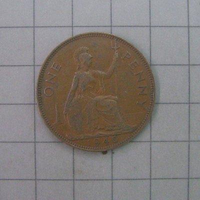 a775,1940年,英國 1 Penny 銅幣 XF,KM# 845。