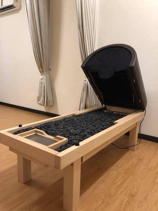 岩盤浴.*陽森堂貿易*黑色能量石岩盤浴床 遠紅外線岩盤浴 手工實木製做 台灣工廠製造 非神之湯非湯之花