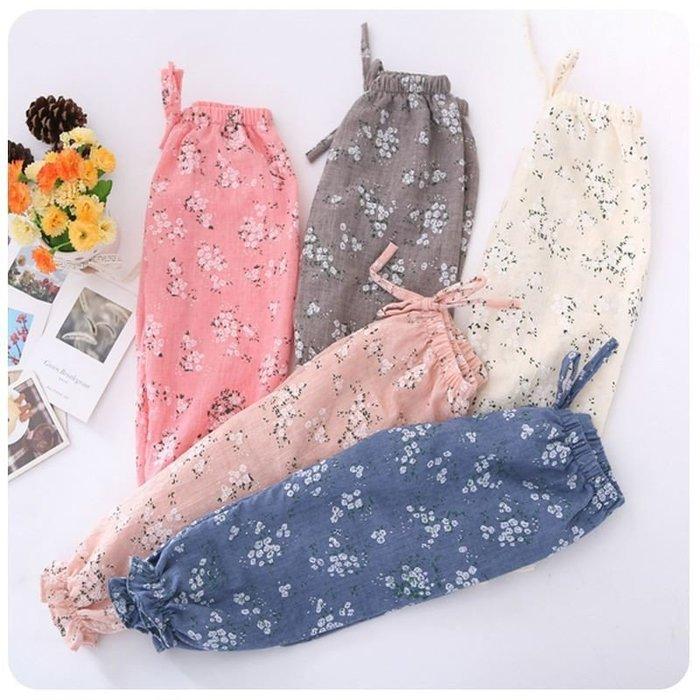 【溜。溜。選物】春夏新款兒童防蚊褲碎花亞麻寬鬆燈籠褲