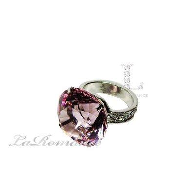 【芮洛蔓 La Romance】 4 cm 水晶鑽戒指造型餐巾環 - 粉色 / 情人節 / 求婚