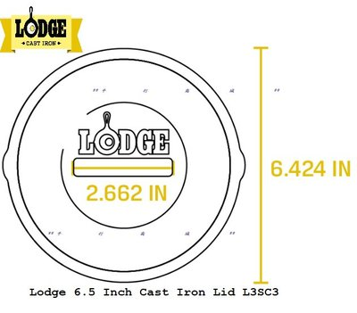 全新美國原裝-美國LODGE 6.5吋鑄鐵鍋上蓋 L3SC3 (L3SK3適用) *平行商城*