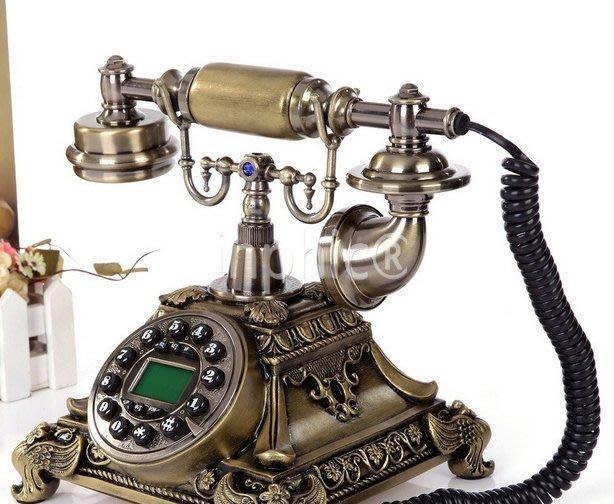 INPHIC-復古電話機歐式 復古電話機 美式古典電話機 古董老式座機