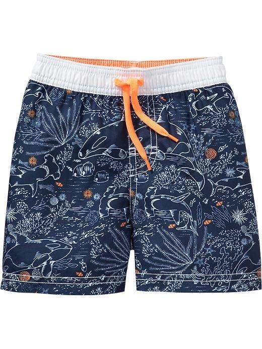 【Nichole's歐美進口優質童裝】Old Navy 男童 藍色海洋泳褲 現貨*另有Carter's/OshKosh