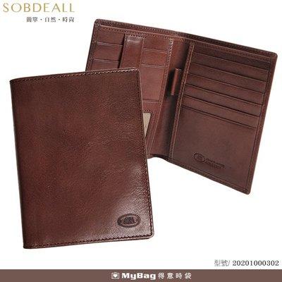 SOBDEALL 沙伯迪澳 真皮護照夾 可放信用卡 牛皮 202010003 得意時袋