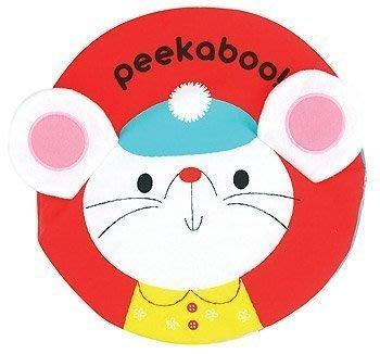 ☆天才老爸☆→美國【K's Kids 奇智奇思】Animal Peek-a-boo動物躲貓貓←禮物 布書