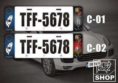 【STREET PARK】訂製 歐盟 Porsche 車系 Cayenne 車牌裝飾【原價780$ 特價 580$】