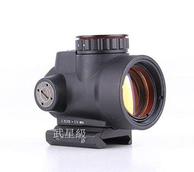 台南 武星級 MRO 快拆式 瞄準鏡 黑 (LED 紅外線 外紅點 內紅點 激光 快瞄 定標器 狙擊鏡 紅雷射 綠雷射