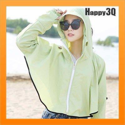 防曬外套防曬披肩可愛耳朵長袖連帽出遊戶外騎機車海邊沙灘-多色【AAA2481】預購