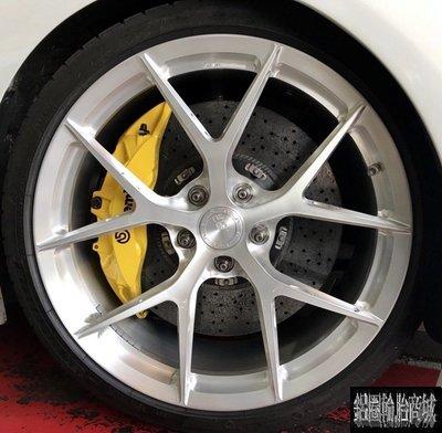 高檔 全新 20吋 正品 BC KLS01 單片鍛造鋁圈客製化 銀刷絲 各車規格訂製 BMW F36 435I 實裝圖