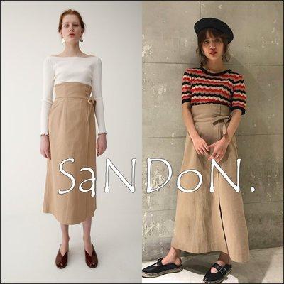 SaNDoN x『MOUSSY』法式 優雅簡約歐風側釦高腰綁帶一片裙 SLY 韓妮 180501