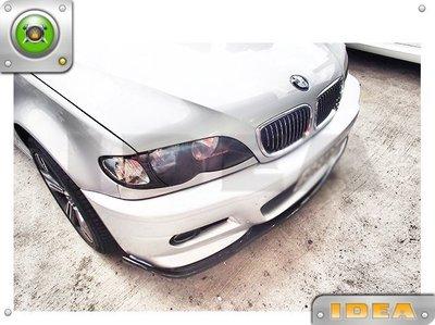 泰山美研社 18061640全新BMW E46 M3 樣式前保桿含霧燈 , 另有E46大包 E46下巴