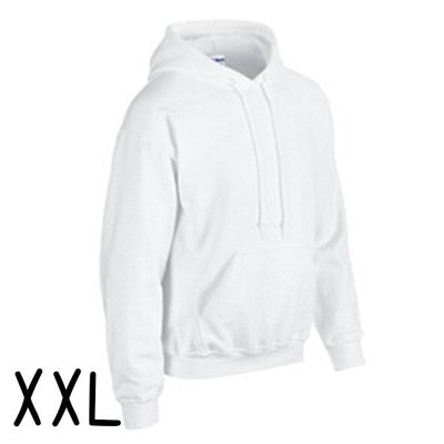 GILDAN 真品 美國棉 輕質感 中性 連帽 T恤 XXL (白色) 帽T 情侶裝