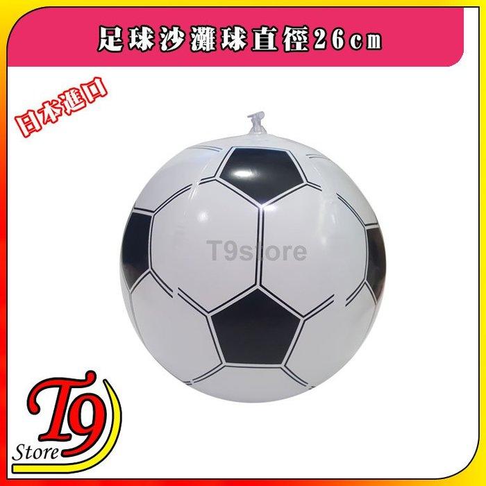 【T9store】日本進口 足球沙灘球直徑26cm