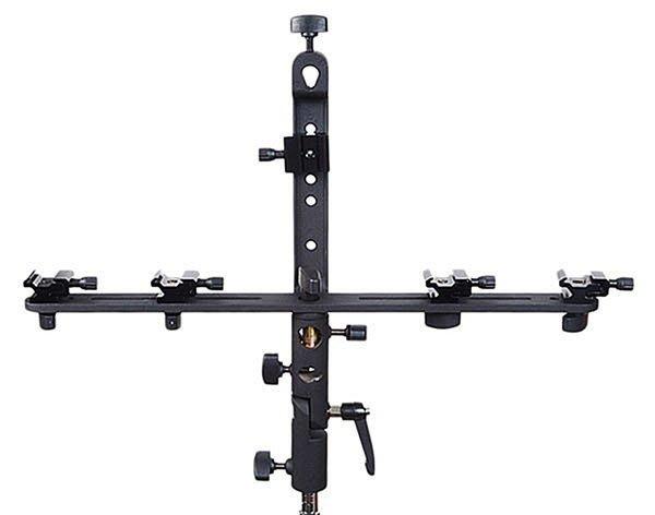 呈現攝影-Phottix FTx3 十字型閃光燈支架 傘座/關結 五閃燈支架 高速攝影 離機閃 canon