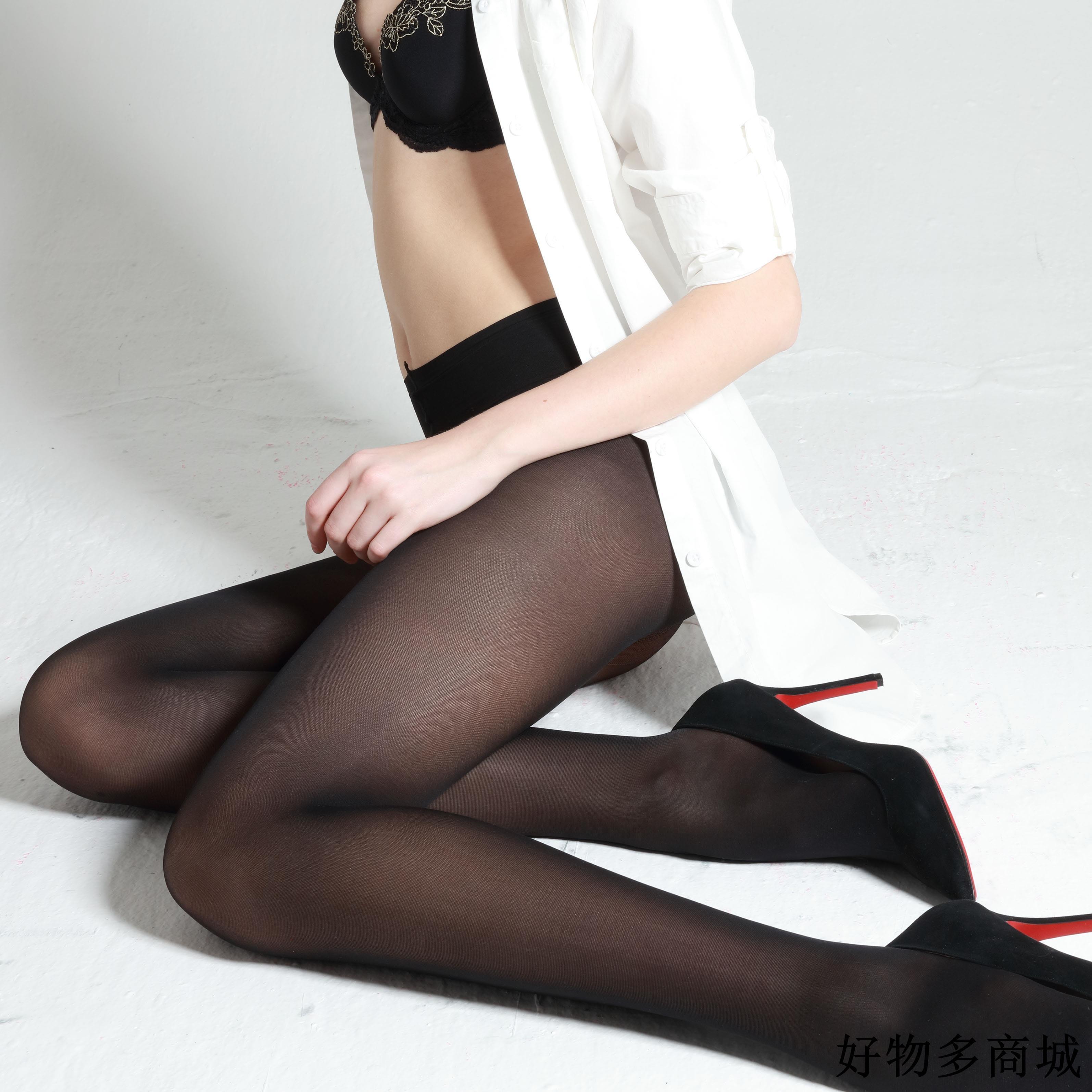 流行中筒襪 舒適服貼 T型褲襪 防勾絲襪40D低腰寬腰帶黑色天鵝絨連褲襪打底襪新品免運