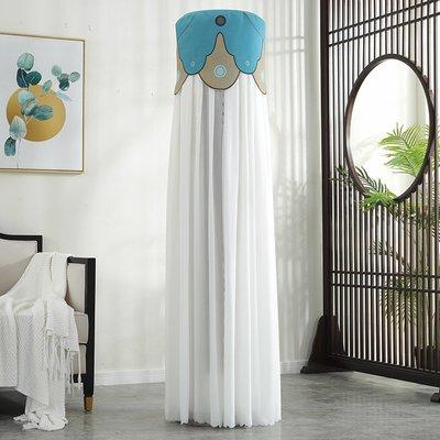 SUNNY雜貨-空調罩圓形格力美的奧克斯海爾立式客廳柜機罩圓柱開機不取防塵套#防塵罩#家居用品