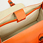 Profashion DS1687M黑橘色2色 頭層純牛皮手工包