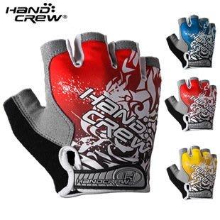 Ourmall 買一送一 handcrew 加厚 GEL矽膠 抗震防滑 透氣萊卡半指單車手套 (三色可選) 送袖套