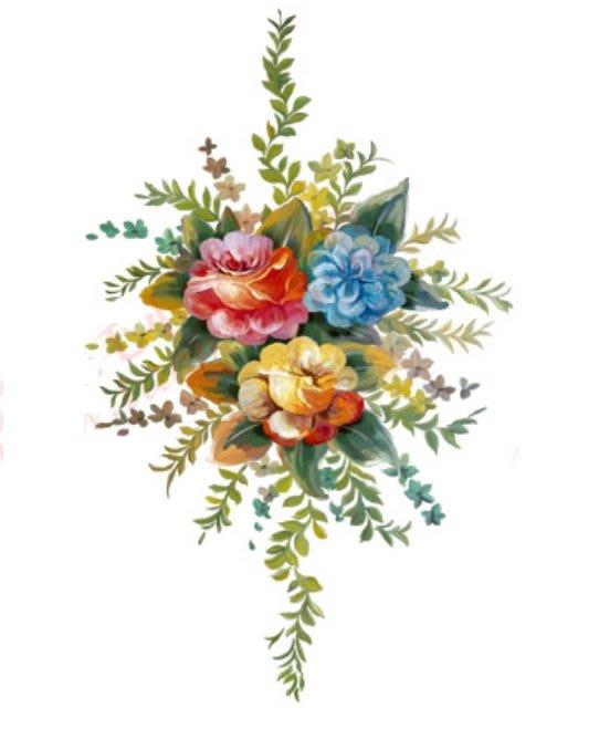 小妮子的家@手繪系列水移畫/古典玫瑰轉印貼紙/家具貼/瓷磚貼/玻璃貼~4097.1