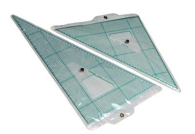 chartmate 恰得美 製圖桌:AT-45ABK(含金屬握把) 大尺寸製圖用三角板45CM一組2支