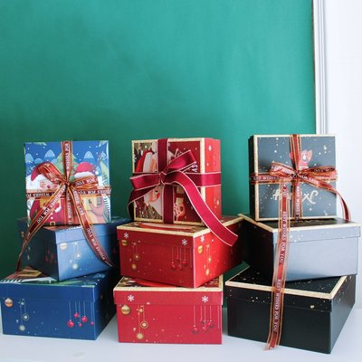 高檔平安夜禮盒聖誕節禮品盒空盒創意送男女朋友伴手禮生日禮物盒