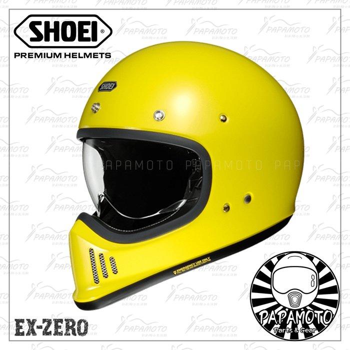 【趴趴騎士】SHOEI EX-ZERO 黃色 山車帽 復古越野安全帽