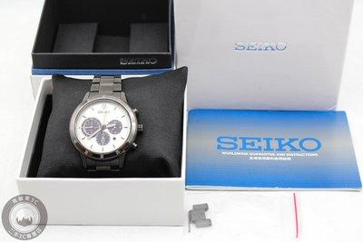 【高雄青蘋果3C】SEIKO SSC337P1 極速太陽能計時碼錶 41mm 三眼 二手手錶 #48998