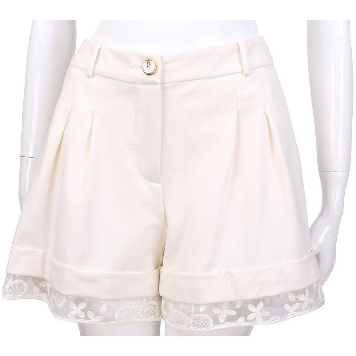 米蘭廣場 CLASS roberto cavalli 白色蕾絲拼接設計短褲 1410664-20