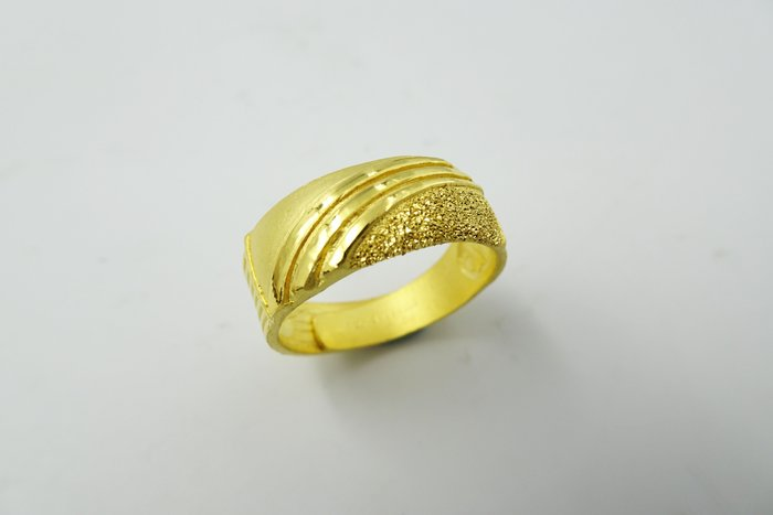 %玉承珠寶%純金9999弧形閃亮黃金戒G70(高價買收K金.黃金.鉑金.勞力士)現貨一件,不用等~