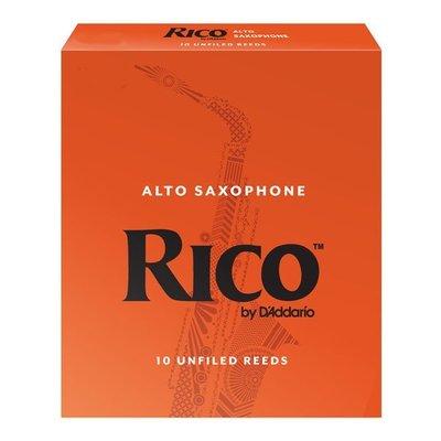 ☆唐尼樂器︵☆美國 RICO Alto 中音薩克斯風竹片 2號/2.5號/3號/3.5號 (10片/盒)【橘包裝】