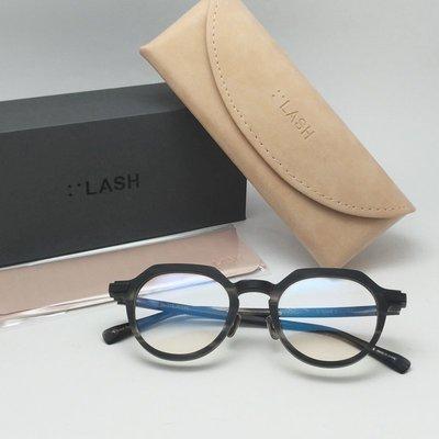 [恆源眼鏡]  LASH S-TYPE5  C1 光學眼鏡 皇冠圓形膠框 灰黑色 犀利切角 藝術家氣息