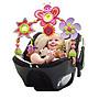 ☆╮花媽╭☆Tiny Love 嬰兒車/汽座/嬰兒床 夾式玩具-粉蝴蝶00433