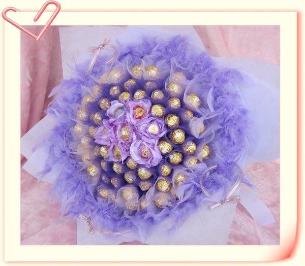 66朵巧克力 99朵金莎巧克力 情人花束 情人節 生日花束 求婚花束 畢業花束送禮盒