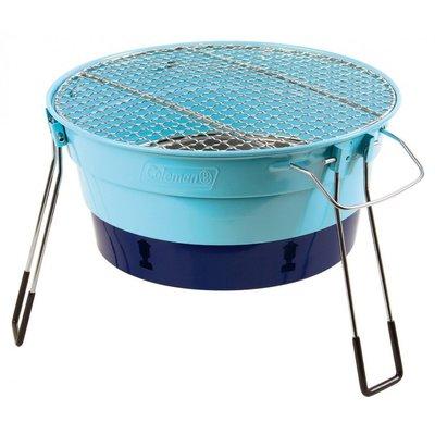 【山野賣客】Coleman CM-27317 天空藍 收納型Packway烤肉爐 烤肉箱 桌上型燒烤爐 BBQ烤肉架 串