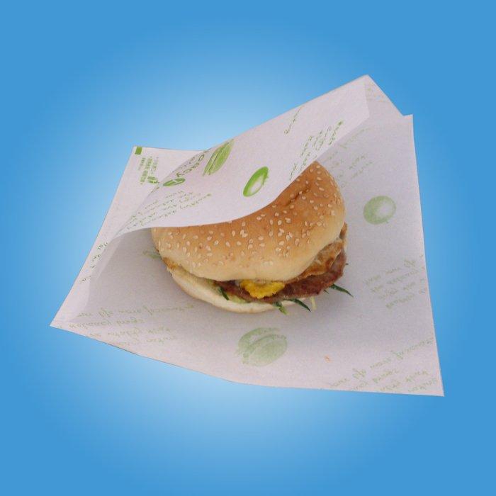 ㊣創傑*公版漢堡袋 L型20*20cm*(100入/包) PE淋膜&防油+防水~真空機封口機印字機計量機液體充填機旋蓋機
