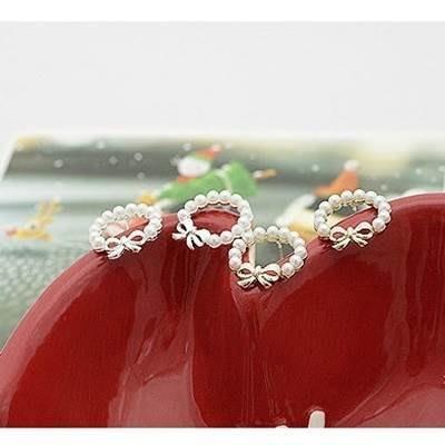 925純銀耳環 珍珠耳飾-簡約時尚典雅流行情人節生日禮物女飾品2色73ji124[獨家進口][米蘭精品]