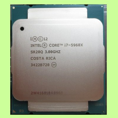 5Cgo【權宇】散裝ES CPU Intel I7 5960X不顯不超頻8核16線程3.0GHz主頻2011 X99含稅