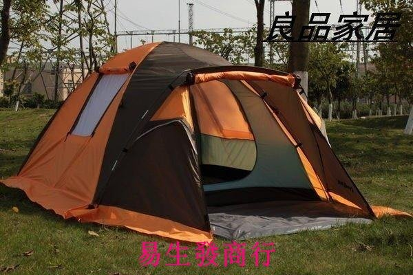 【易生發商行】時尚 帳篷戶外防雨防曬雙人多人雙層野營露營用品 戶外必備 沙灘F6111