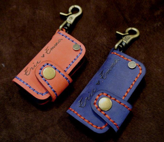 (KH手工皮革工作室)全牛皮純手工SKODA斯柯達Superb Fabia Citigo晶片折疊遙控感應鑰匙皮套