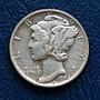 美國 墨丘利  1角  10分  ONE DIME  1943-S   銀幣(90%)   280-388
