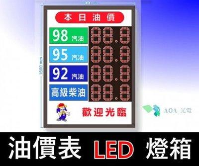 油價表LED燈箱/價格表看板內崁用油價數字錶油價屏加油站價表各油價品價表加油站led加油價目牌油價價目led/8吋鐵箱