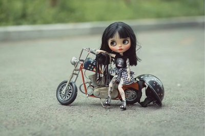 blythe小布 1/6 bjd娃娃哈雷摩托車拍攝道具
