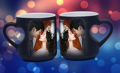 (全新DIY訂造) 個人訂製熱感變色咖啡情侶杯 (一對套裝)- 情人節 生日禮物 2020 必買