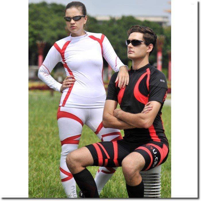 U.CR+ TPU中性款流滑肩型機能服 共兩色 女款自行車衣 吸排 透氣 台灣製造 喜樂屋戶外團體服訂製