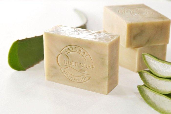 女王天然手工皂「蘆薈水凝露-植萃調理皂」  手工香皂 手工肥皂  冷製手工皂