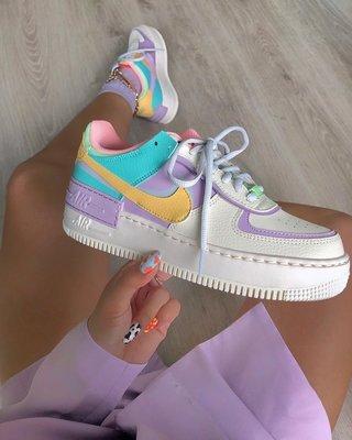 【海外代購】Nike Air Force 1 Shadow 粉紫 馬卡龍 拼接 網美 女生